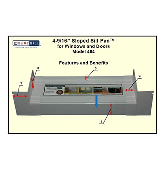 "4-9/16"" Sloped Sill Pan™ for Windows and Doors Model 464"